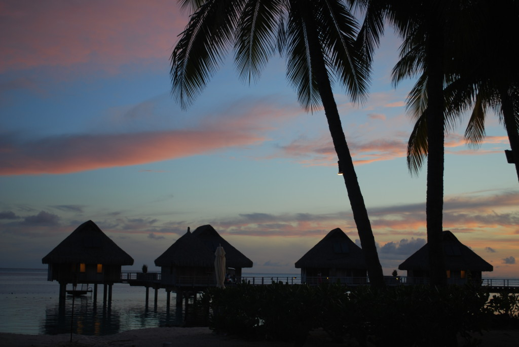 The Bora Bora sunset on my birthday.