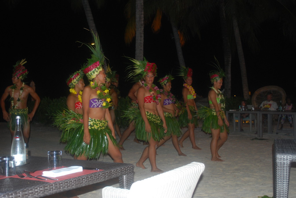 The Poynesian show at the Bora Bora Hilton Nui Resort.